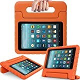 eTopxizu Tablet Case for All-New Amazon Fire 7 2017 - Light Weight Shock Proof Convertible Handle Kid-Proof Cover Kids Case for All-New Fire 7(7th Generation, 2017 Release), Orange