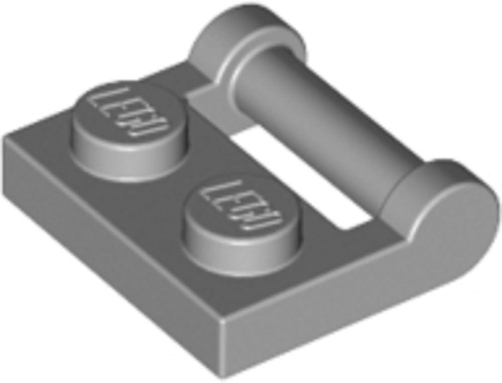 Lego Parts and Pieces: Plate 1X2 W. Stick 3.18 (Medium Stone Grey)