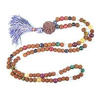 Rudraksha Mala Beads Nine Planets Navratna Rosary Prayer Japamala Yoga Jewelry