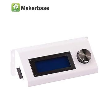 LCD2004 Carcasa de Plástico para Impresora 3D Pantallas (Blanco ...