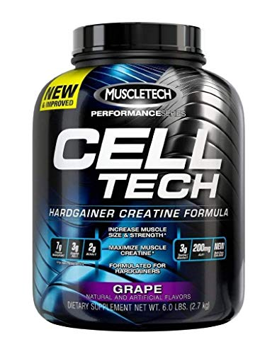 MuscleTech Cell-Tech Hardgainer Creatine Formula - Grape - 6 lbs (Best Supplements For Hardgainers)