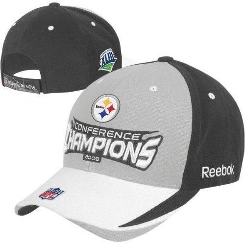 リーボックピッツバーグスティーラーズ2008 AFC Conference Champions Locker Room帽子調節可能   B001PH2AXC