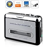 BW Portable Tape to PC Cassette-to-MP3 CD USB Converter Capture Digital Audio Music Player, USB Cassette Player and Tape-to-MP3 Converter
