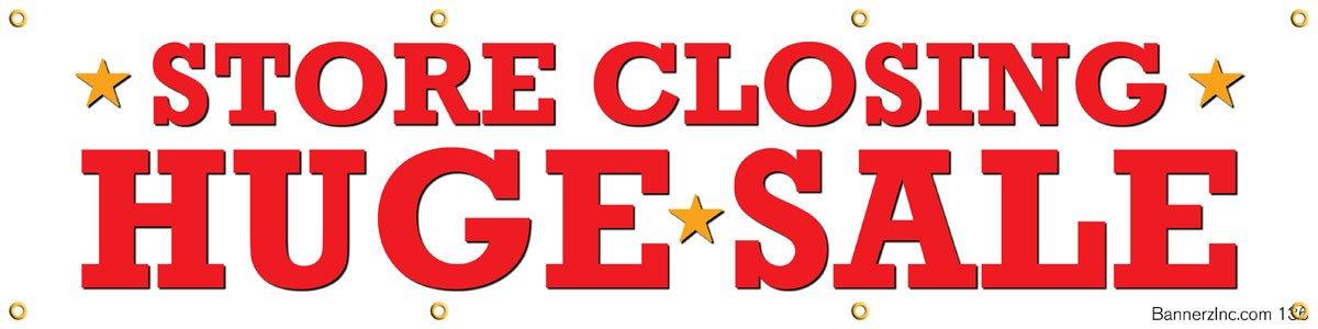 Amazon com : Store Closing Huge Sale Vinyl Display Banner with