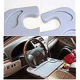 EFORCAR(R) Gray Car Auto Laptop/Eating Drink Steering Wheel Desk Mount Portable Table