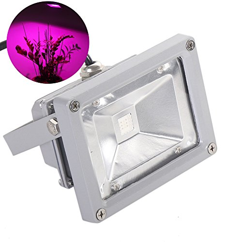 LVJING® Led Grow Light Bulb, Hanging Flood light Kit, Waterproof, for Indoor Garden Greenhouse Hydroponic Plants, 12W, AC 85~265V