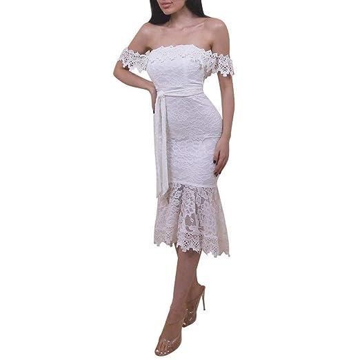 Go First Elegante Vestido Blanco De Las Señoras Vestido De Tubo De ...