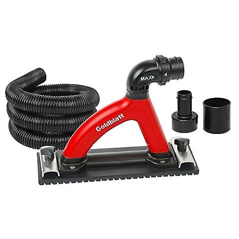 Goldblatt G05028 Dust Free Hand Sander with 6-ft hose (Dust Free Drywall Sander)