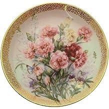 c1992 Lena Liu Carnation Serenade Symphony of Shimmering Beauty plate CP1563