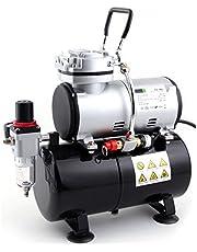 Fengda FD-186 Airbrush-compressor met luchttank, krachtige luchtstroom en luchtdruk, drukvat, 4 bar, auto-stop