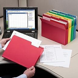 Smead File Pocket, Straight-Cut Tab, 3-1/2\