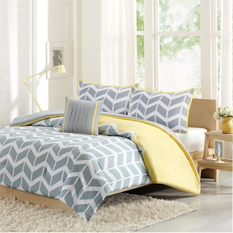 Intelligent Design Nadia Comforter And Decorative Pillow Set - Yellow