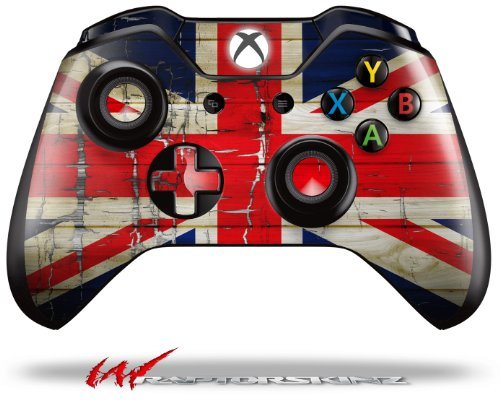 Painted Faded and Cracked Union Jack British Flag - Decal Style Skin fits Microsoft XBOX One Wireless Controller (CONTROLLER NOT INCLUDED)