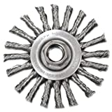 Stringer-Bead Twist-Knot Wheel, 4'' dia, 1'' Trim, .20 Wire, 5/8'' Arbor