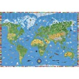 Illustrated Children's World Map ~ K&S Kids World Wall Map (World Wall Maps)