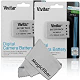 (2 Pack) Vivitar EN-EL5 Ultra High Capacity 1200mAH Li-ion Batteries for NIKON Coolpix P530, P520, P510, P100, P500, P5100, P5000, P6000, P90, P80 Cameras (Nikon EN-EL5 Replacement)