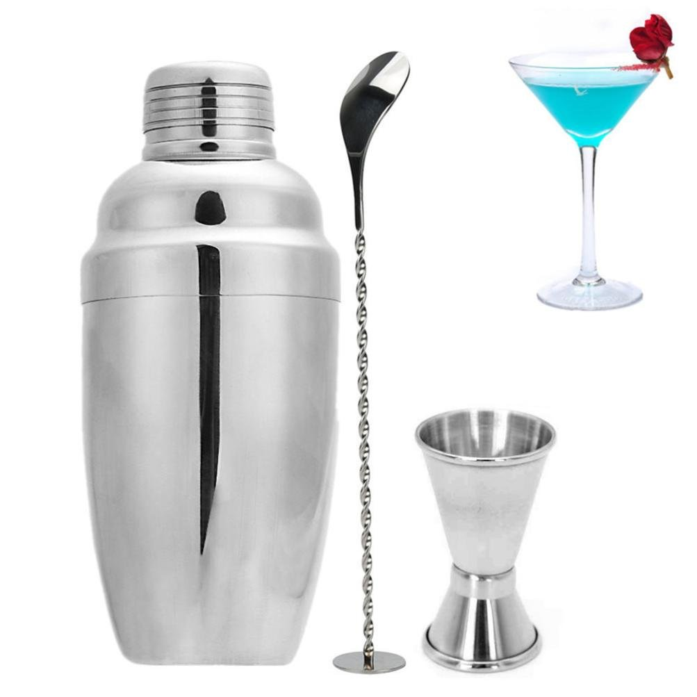 Cocktail Shaker Bar Tools, Cocal 3Pcs/Set Cocktail Shaker Stainless Steel Bartender Tool Mixer Drink Bar 750ml