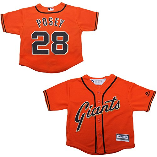 Buster Posey San Francisco Giants Infant Orange Alternate Cool Base Replica Jersey 24M (Giants Stadium Replica)