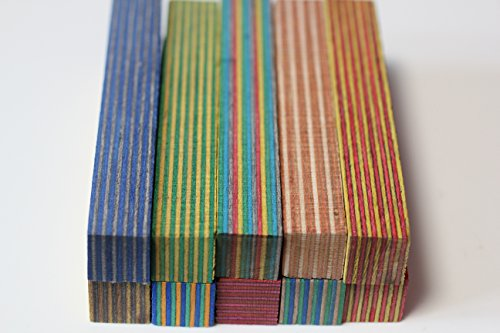 Spectra- ply Pen Blanks Assorted Colors By MK Unique Designs 10 Pack