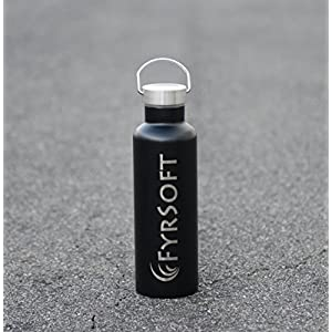 Customized Stainless Steel Water Bottle With Your Logo - 25oz (750ml) Premium Double Wall Insulated Vacuum Elemental Bottle Great for Corporate Gifts, Employee Gifts, Holiday Gifts