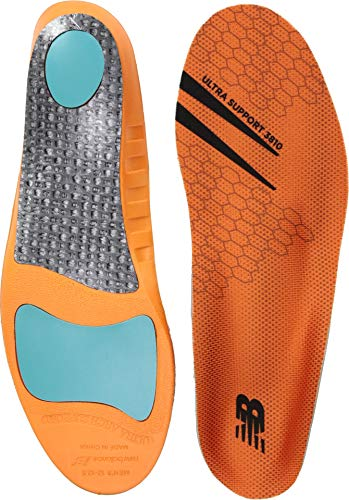 New Balance Insoles 3810 Ultra Support Insole Shoe, orange, Medium/M 6-6.5, W 7.5-8 D US