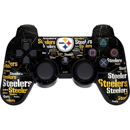 Skinit Pittsburgh Steelers Black Blast PS3 Dual Shock Wireless Controller Skin - Officially Licensed NFL Gaming Decal - Ultra Thin, Lightweight Vinyl Decal Protection
