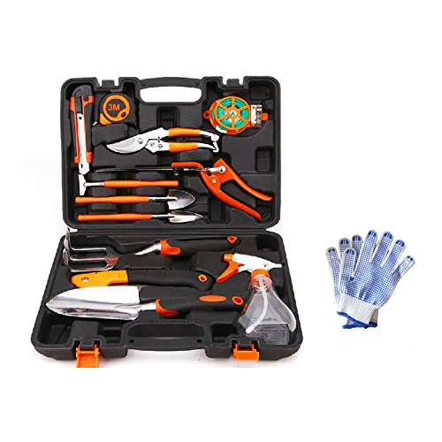 Gunsamg Garden Tool Set 13 Pieces Plant Care Garden Tool Set All-in-One Kit Home Precision Tool with 15 inch Carrying Case - Precision 7 Piece Set