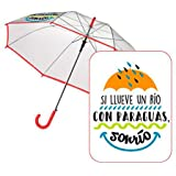 Baggy 2018 Paraguas Clásico, 60 cm, Transparente