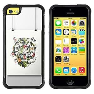 "Hypernova Defender Series TPU protection Cas Case Coque pour Apple iPhone 5C [Pintura colorida Art Dibujo""]"