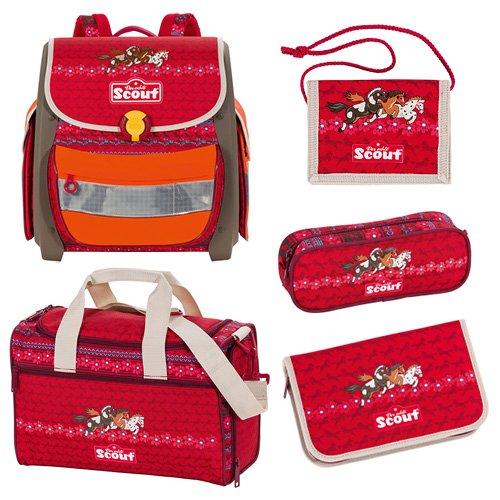 Scout 72500974600 Schule Schulranzen-Set, Rot