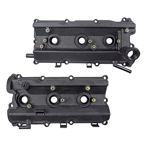 (Pair Set Engine Valve Covers w/Gaskets Replacement for Infiniti FX35 G35 M35 & M35X Nissan 350Z 13270-8J112)