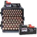 Volt Vault Organizador de batería y comprobador de batería – 83 ranuras AA/AAA soporte de batería estante y dispensador, soporte de pared caja Caddy para baterías, probador de batería incluido