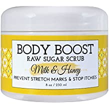 Body Boost Milk & Honey Sugar Scrub 8 oz- Pregnancy & Nursing Safe Skin Care