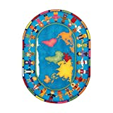 Joy Carpets Kid Essentials Early Childhood Oval Hands Around The World Rug, Multicolored, 5'4'' x 7'8''