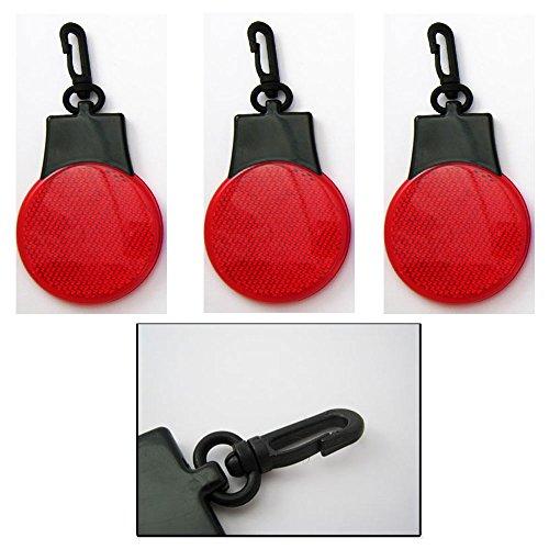 Flashing Reflector Keychain Backpack Novelty