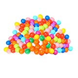 Rrimin Play Tent Accessories Toy Colorful Ball Soft Plastic Ocean Ball Funny Baby Kid Swim Pit Toy (100Pcs)