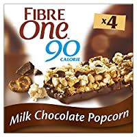 Fibre One 90 Calorie Milk Chocolate Popcorn Bars 4x21g (Pack of 8)