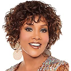 Vivica A. Fox H218-V Premium Human Hair, PS Cap Wig in Color 4