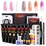 BURANO PolyGel Nail Kit, with 7 Color Builder