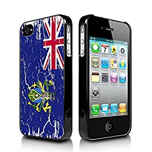 Pitcairn Islands Weathered Flag Apple iPhone 4 4S Black Cell Phone Case