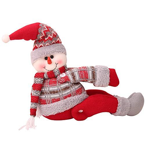 Christmas Decoration IEason New Cartoon Doll Curtain Buckle Window Decoration Christmas Gift Home Decors (C)]()