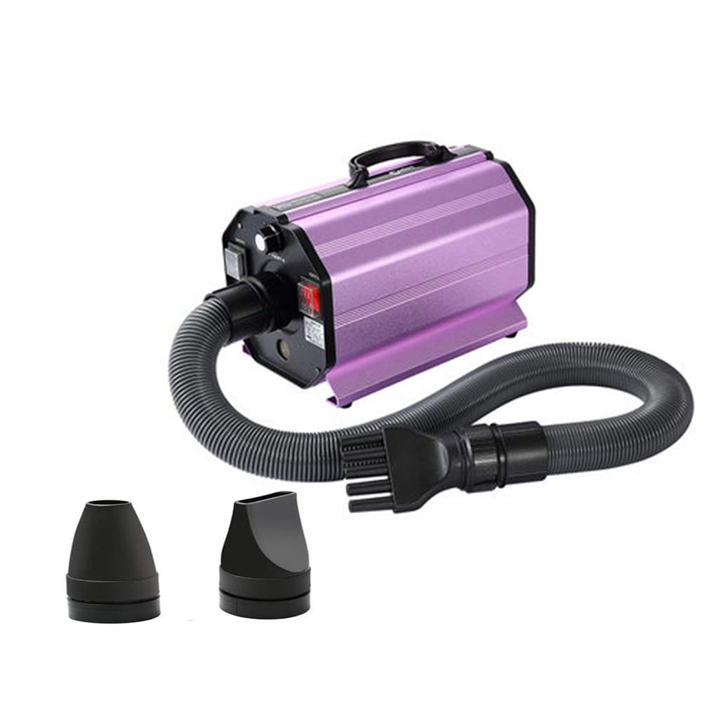 PURPLE MiaoMiao Pet Grooming Dryer Professional High Power Low Noise Adjustable Cat And Dog Pet Bathing Tool Dry Hair (color   PURPLE)