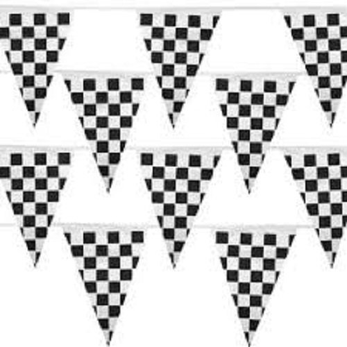 500 Ft Checkered Flag Banner Pennant Car Racing Party (5 packs) by Fun Express (Image #1)