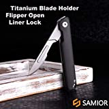 Samior S62 Compact Slim Flipper Scalpel Folding