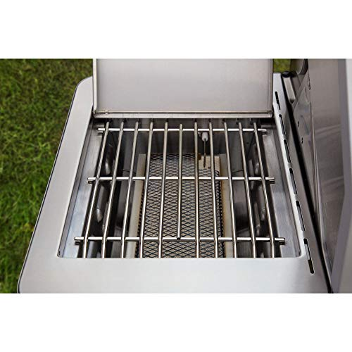 Monument Grills Clearview Lid 4 Burner with Side Sear Burner Propane Gas Grill (Best Window Grill Design)