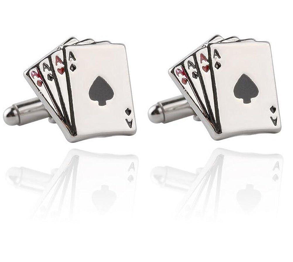 Joyfeel buy 1 Paire de Boutons de Manchette Fran/çais Hommes Creative Poker Motif Conception Chemise Costume Manchette Liens Accessoires D/écoratifs pour Anniversaire//Mariage//Cadeau danniversaire