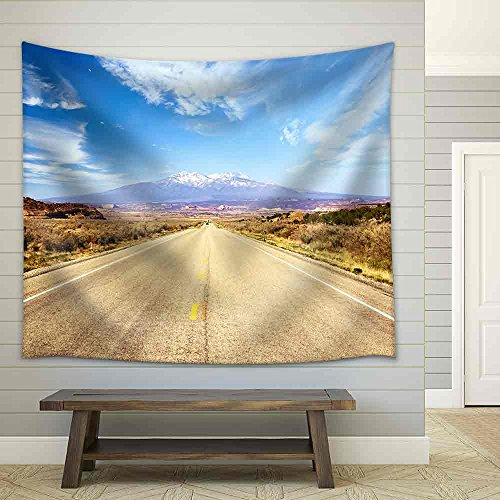 Road Through American Southwest Utah United States Fabric Wall
