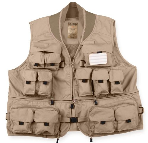 Cheap Master Sportsman Convertible Mesh Back Fishing Vest (Khaki, XX-Large)