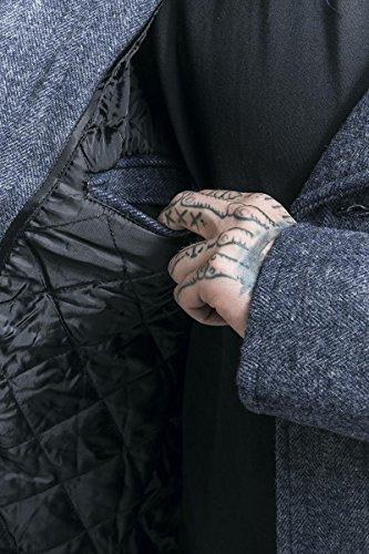 Coat Herringbone Denim Brandit Pea Uomo Blu EXxqZXvw