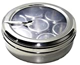 STREET CRAFT Stainless Steel Masala Dabba Spice Box (8 IN)